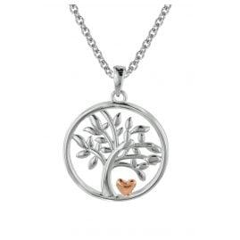 trendor 08819 Lebensbaum Anhänger für Damen mit Silberkette 925