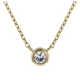 trendor 08851 Halskette für Damen Gold 585 Zirkonia