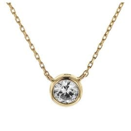 trendor 08853 Necklace Gold 585 Cubic Zirconia