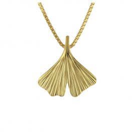 trendor 08950 Gingko-Leaf with Box Chain Necklace Gold 333/8 ct Ginkgo