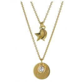 trendor 08995 Silver Necklace with Pendants Gold-Plated