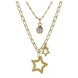 trendor 08998 Silver Necklace with Pendants Gold-Plated
