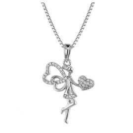 trendor 75058 Necklace For Women with Fairy Pendant 925 Silver
