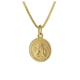 trendor 75214 Guardian Angel Gold 585 (14 Carat) with Gold-Plated Necklace