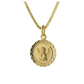 trendor 75325 Necklace for Kids Angel Gold 585 (14 ct.) Gold Plated Necklace
