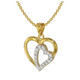 trendor 75406 Heart Pendant Gold 333 / 8K with Gold Plated Necklace