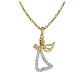 trendor 75465 Necklace with Diamond Angel Pendant Gold 585 / 14K