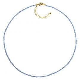 trendor 75480 Damen-Halskette Blauachat Ø 2,5 mm