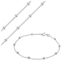 trendor 75231 Schmuckset für Damen Kette und Armband Silber 925