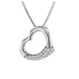 trendor 75505 Halskette mit Herz-Anhänger Silber 925