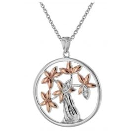 trendor 75511 Silver Pendant Tree of Life + Necklace