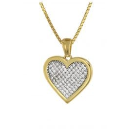 trendor 75560 Heart Pendant Gold 333 + Gold Plated Silver Necklace
