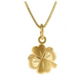 trendor 75623 Kids Necklace with Four-Leaf Clover Pendant Gold 333 / 8 Carat