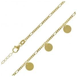 trendor 75651 Damen-Kette mit Plättchen Silber Vergoldet