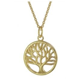 trendor 75655 Women's Necklace with Tree Of Life Pendant Gold Plated Silver