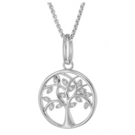 trendor 75702 Necklace With Pendant Tree Of Life Silver 925 Cubic Zirconias