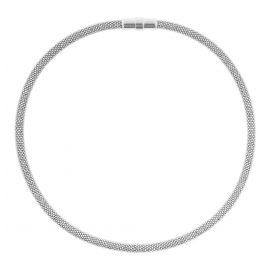 trendor 75775 Ladies' Necklace Glitter Tube Chain Silver 925