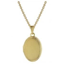 trendor 75745 Damen Medaillon mit Halskette Gold auf Silber 925