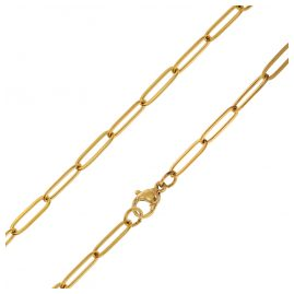 trendor 75880 Ladies' Necklace Gold Plated Steel Anchor Chain 45 cm