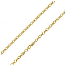 trendor 75887 Women's Necklace Gold Plated Stainless Steel Belcher Chain 40 cm