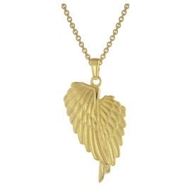 trendor 75951 Angel Wings Pendant Necklace Gold Plated Silver 925