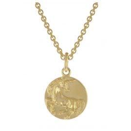 trendor 75964 Einhorn-Anhänger 333 Gold mit goldplattierter Silberkette