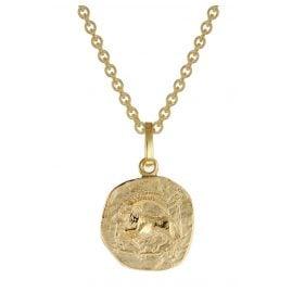 trendor 75905-01 Children's Zodiac Sign Capricorn Gold 333 Pendant + Necklace