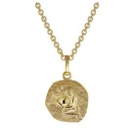 trendor 75905-02 Zodiac Sign for Children Aquarius Gold 333 Pendant + Necklace