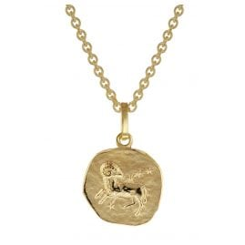 trendor 75905-04 Zodiac Sign for Children Aries Gold 333 Pendant + Necklace
