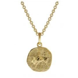 trendor 75905-05 Sternzeichen für Kinder Stier Gold 333 Anhänger + Halskette