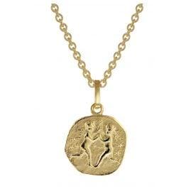 trendor 75905-06 Zodiac Sign for Children Gemini Gold 333 Pendant + Necklace