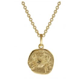 trendor 75905-07 Zodiac Sign for Children Cancer Gold 333 Pendant + Necklace