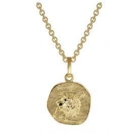 trendor 75905-08 Sternzeichen für Kinder Löwe Gold 333 Anhänger + Halskette