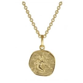 trendor 75905-09 Zodiac Sign for Children Virgo Gold 333 Pendant + Necklace