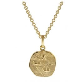 trendor 75905-10 Zodiac Sign for Children Libra Gold 333 Pendant + Necklace