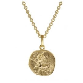 trendor 75905-12 Zodiac Sign for Kids Sagittarius Gold 333 Pendant + Necklace