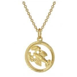 trendor 75940-07 Sternzeichen Krebs Gold 333 Anhänger Ø 16 mm + Halskette
