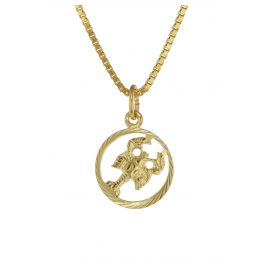 trendor 75990-07 Zodiac Sign Cancer 333 Gold + Gold-Plated Childrens Necklace