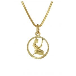 trendor 75990-09 Kids Zodiac Sign Virgo 333 Gold + Gold-Plated Necklace