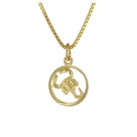 trendor 75990-11 Kids Zodiac Sign Scorpio 333 Gold + Gold-Plated Necklace