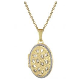 trendor 75978 Locket 333 Gold (8 ct) + Gold-Plated Silver Necklace