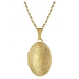 trendor 75980 Locket 333 Gold (8 ct) + Gold-Plated Silver Necklace