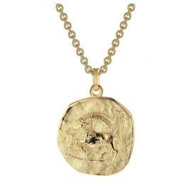 trendor 39070-01 Zodiac Sign Capricorn Men's Necklace Gold Plated Silver 925