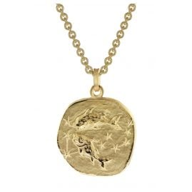 trendor 39070-03 Zodiac Sign Pisces Men's Necklace Gold Plated Silver 925
