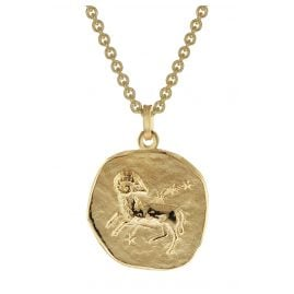 trendor 39070-04 Zodiac Sign Aries Men's Necklace Gold Plated Silver 925