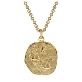 trendor 39070-10 Waage Sternzeichen Anhänger Herren-Halskette Gold auf Silber