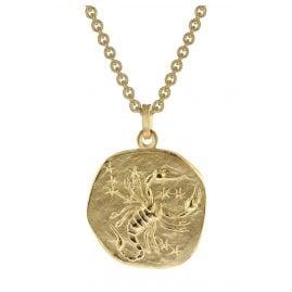 trendor 39070-11 Skorpion Sternzeichen Anhänger Herrenkette Gold auf Silber
