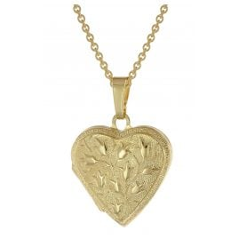 trendor 39535 Heart Locket Necklace Gold Plated 925 Silver
