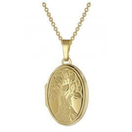 trendor 39544 Locket Pendant Necklace Gold Plated 925 Silver