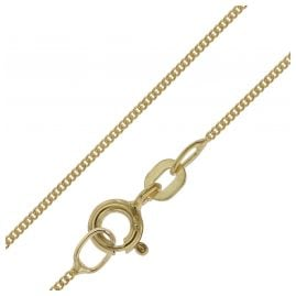 trendor 39590 Necklace for Pendants 585 Gold 14 K Flat Curb Chain 0.8 mm width